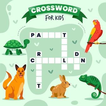 Kreuzworträtsel in englischer vorlage