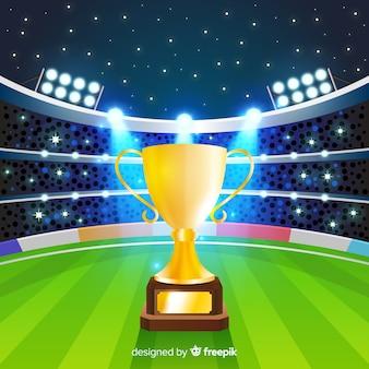Kricketstadionshintergrund mit cup