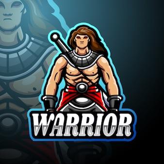 Krieger esport logo maskottchen design