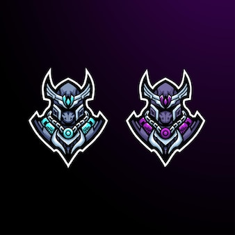 Krieger ritter kämpfer logo