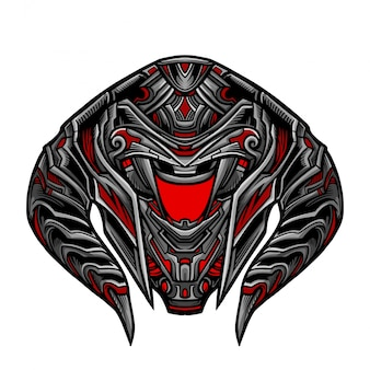 Krieger-roboter-rote maske