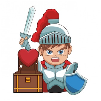 Krieger-videospiel-cartoon