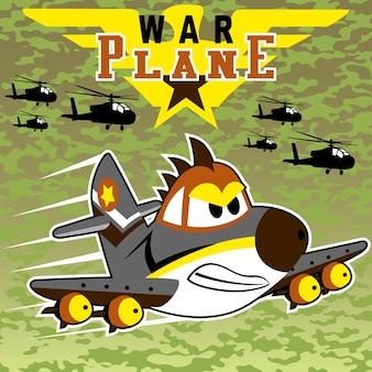 Kriegsflugzeug-cartoon