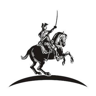 Kriegspferd mit schwert-logo