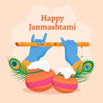 Krishna janmashtami abbildung