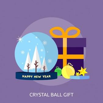 Kristallkugel geschenkentwurf