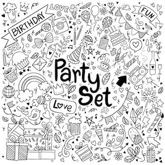 Kritzeleien party set