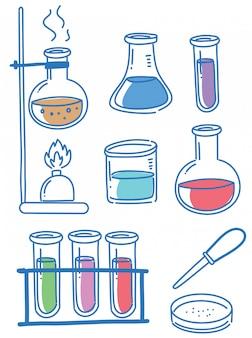 Kritzeleien von wissenschaftsobjekten
