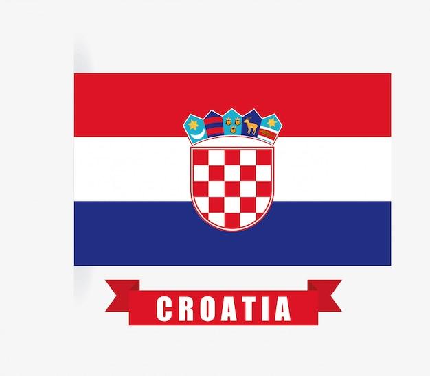 Kroatien-design über weißer hintergrundvektorillustration