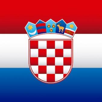 Kroatien-design-vektor-illustration