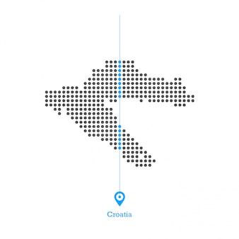 Kroatien doled kartenentwurfsvektor