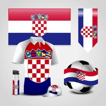 Kroatien fahne design vektor