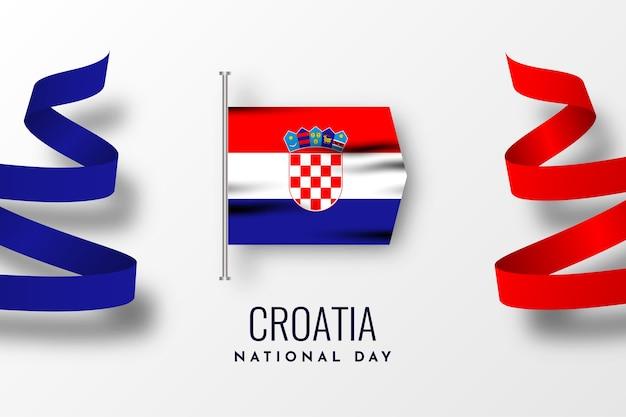 Kroatien nationalfeiertag design