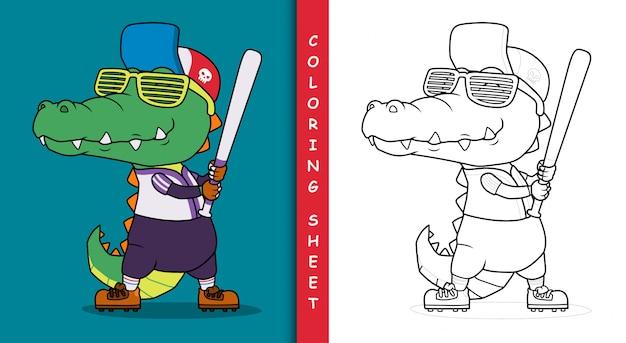 Krokodil-baseballspieler