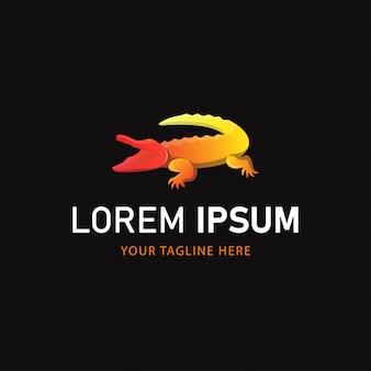 Krokodil-logo-design. tier-logo-verlaufsstil