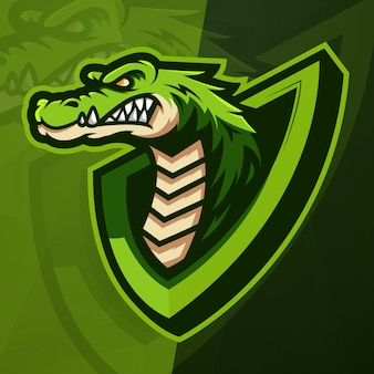 Krokodil maskottchen esport logo