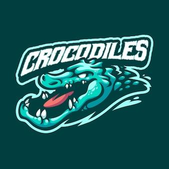 Krokodil-maskottchen-logo für sport- und sportmannschaft