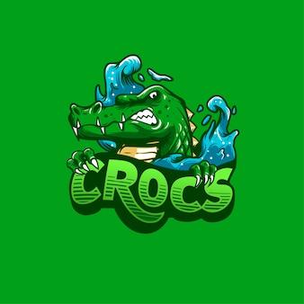 Krokodil-maskottchen-logo