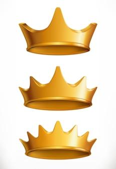 Krone, goldenes emblem.
