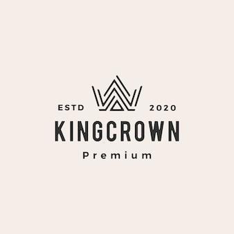 Krone hipster vintage logo symbol illustration