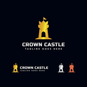 Krone schloss logo vorlage