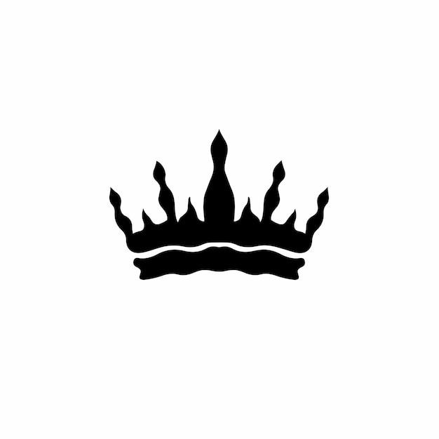 Krone symbol logo tattoo design schablone vektor illustration