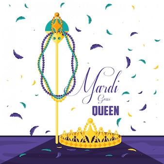 Kronenkönigin der karnevalfeier