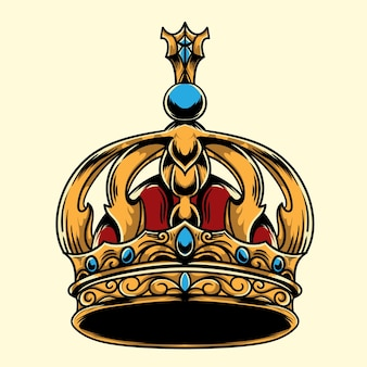 Kronkönig verzierte illustration