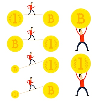 Krypto währung cartoons gesetzt