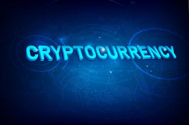 Kryptowährung abstrakten hintergrund
