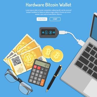 Kryptowährung bitcoin technologiekonzept