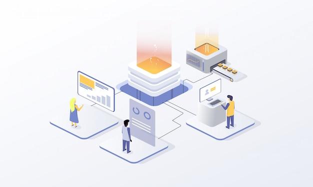 Kryptowährung für website-design, blockchain-technologie