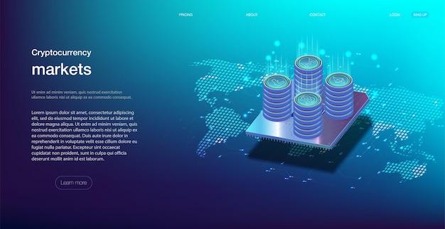 Kryptowährung online-statistiken und datenanalyse.