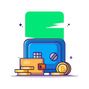 Kryptowährung safe box cartoon illustration
