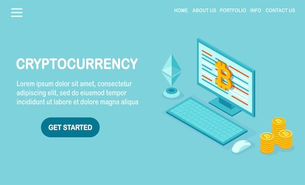 Kryptowährung und blockchain.