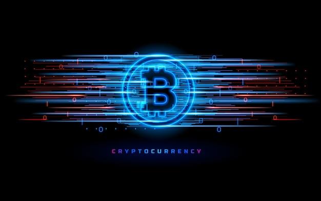 Kryptowährungskonzept isoliert auf schwarz