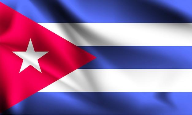 Kuba flagge weht im wind.