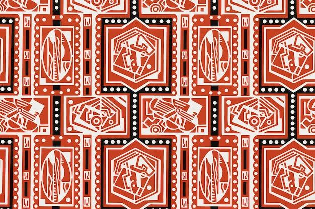 Kubistischer musterhintergrundvektor, remixed von kunstwerken von charles goy