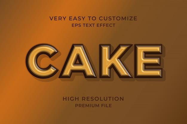 Kuchen 3d-texteffekt