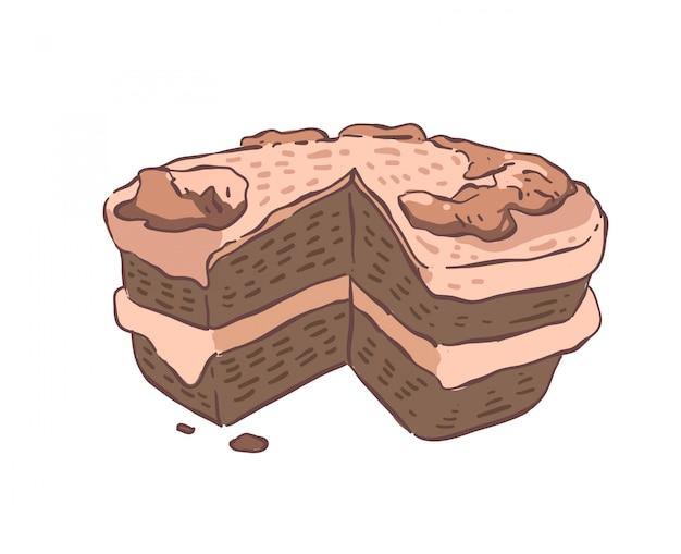 Kuchen gekritzel. kuchen