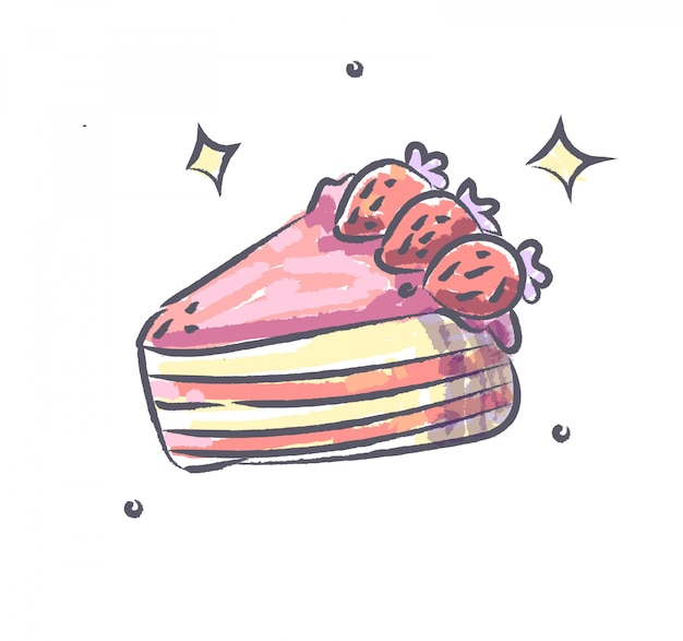 Kuchen gekritzel