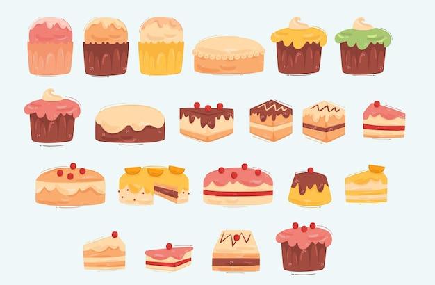 Kuchen sammlung illustration