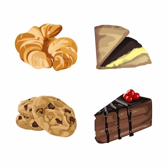 Kuchen set illustration