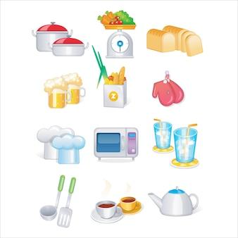 Küchen-Werkzeug-Vektorsatz