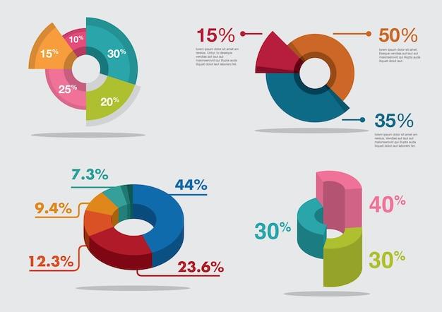 Kuchendiagramm infographic für modelldesign