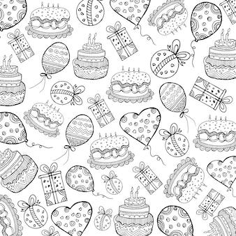 Kuchenmuster hintergrund Kostenlosen Vektoren