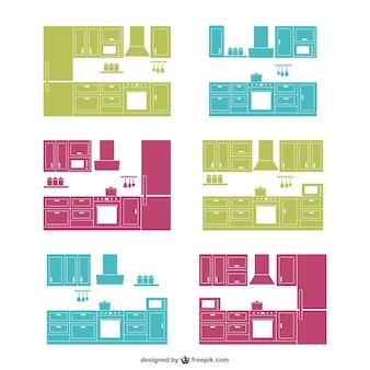 Küche design-silhouetten sammlung