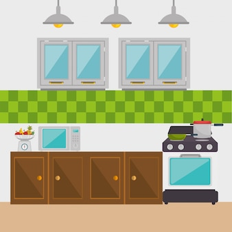 Küche moderne szene elemente