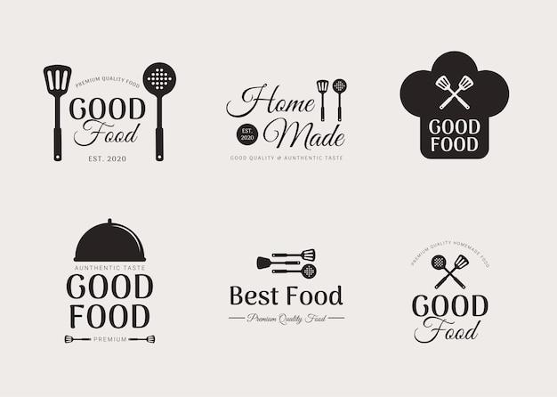 Küche restaurant logo set vorlage