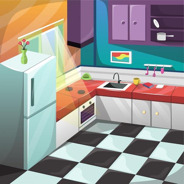 Küche set innenraum möbel dekoration